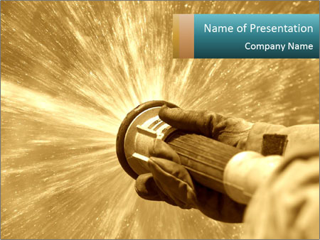 Fire hose PowerPoint Template