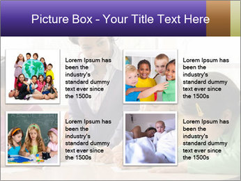 Teacher helping students PowerPoint Template - Slide 14