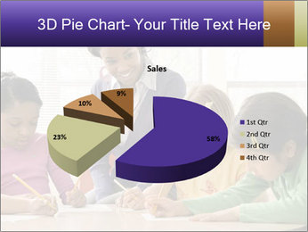 Teacher helping students PowerPoint Template - Slide 35