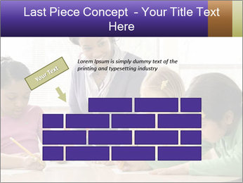 Teacher helping students PowerPoint Template - Slide 46
