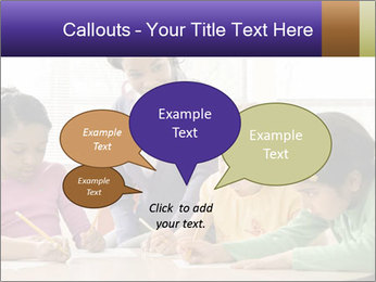 Teacher helping students PowerPoint Template - Slide 73