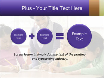 Teacher helping students PowerPoint Template - Slide 75