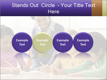 Teacher helping students PowerPoint Template - Slide 76