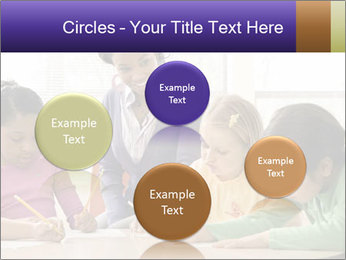 Teacher helping students PowerPoint Template - Slide 77