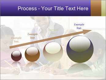 Teacher helping students PowerPoint Template - Slide 87