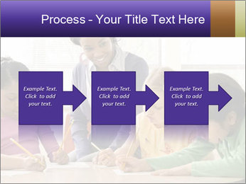 Teacher helping students PowerPoint Template - Slide 88