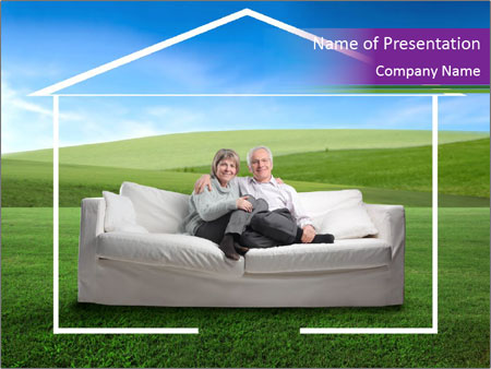 Senior couple PowerPoint Template