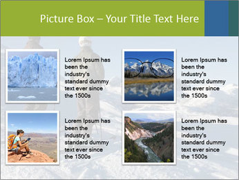 Two skiers view the Tetons PowerPoint Templates - Slide 14