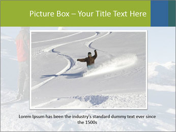 Two skiers view the Tetons PowerPoint Templates - Slide 15