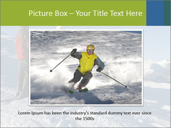 Two skiers view the Tetons PowerPoint Templates - Slide 16