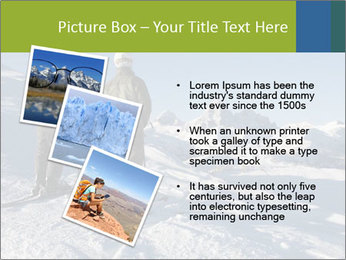 Two skiers view the Tetons PowerPoint Templates - Slide 17