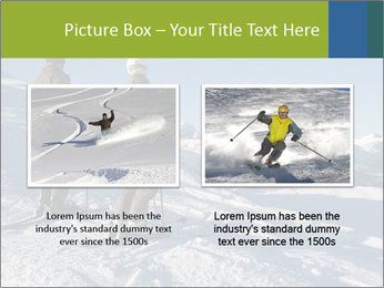 Two skiers view the Tetons PowerPoint Templates - Slide 18