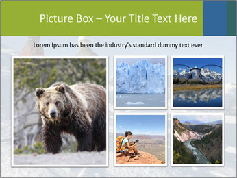 Two skiers view the Tetons PowerPoint Templates - Slide 19