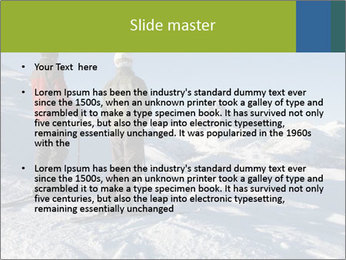 Two skiers view the Tetons PowerPoint Templates - Slide 2