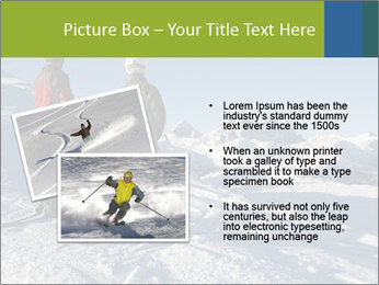 Two skiers view the Tetons PowerPoint Templates - Slide 20