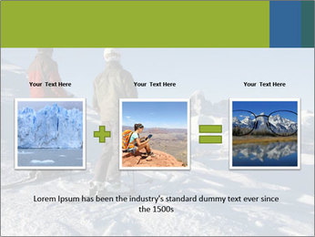 Two skiers view the Tetons PowerPoint Templates - Slide 22
