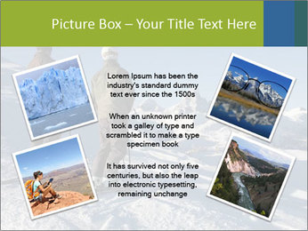 Two skiers view the Tetons PowerPoint Templates - Slide 24