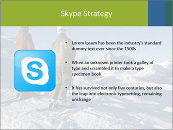 Two skiers view the Tetons PowerPoint Templates - Slide 8