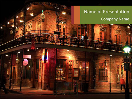 French Quarter of New Orleans PowerPoint Template
