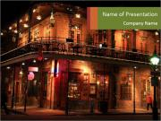 French Quarter of New Orleans PowerPoint Templates