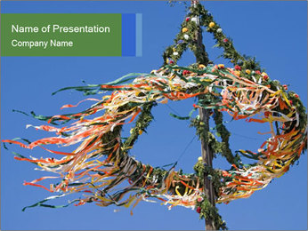 View colored maypole. PowerPoint Template