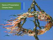 View colored maypole. PowerPoint Templates