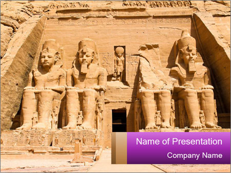 A trip to Egypt PowerPoint Templates
