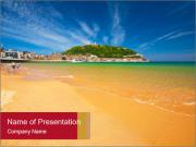 Beach of San Sebastian PowerPoint Template