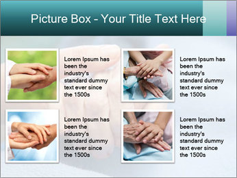 A young hand touches and holds an old wrinkled hand PowerPoint Template - Slide 14