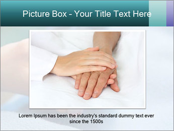 A young hand touches and holds an old wrinkled hand PowerPoint Template - Slide 15