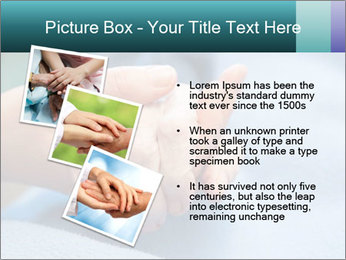 A young hand touches and holds an old wrinkled hand PowerPoint Template - Slide 17