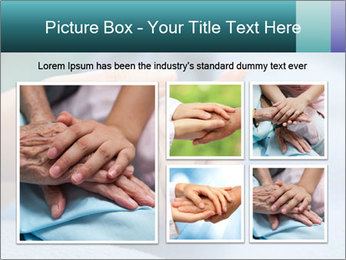 A young hand touches and holds an old wrinkled hand PowerPoint Template - Slide 19