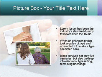 A young hand touches and holds an old wrinkled hand PowerPoint Template - Slide 20