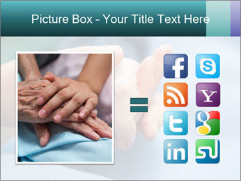 A young hand touches and holds an old wrinkled hand PowerPoint Template - Slide 21