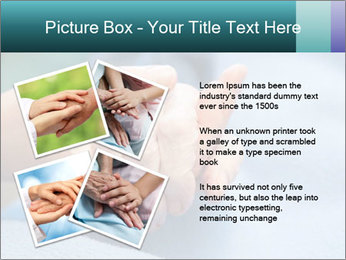 A young hand touches and holds an old wrinkled hand PowerPoint Template - Slide 23