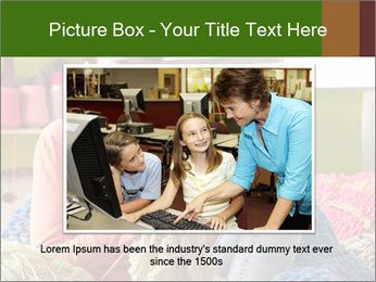 Young Woman Sitting In Chair Knitting PowerPoint Templates - Slide 16
