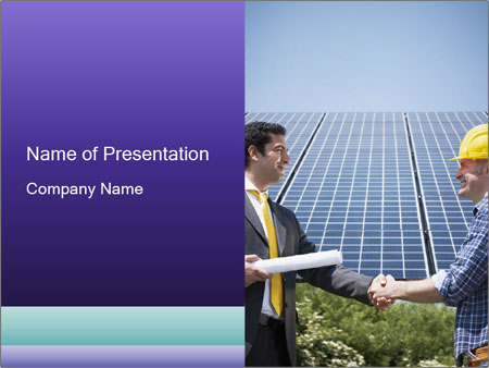 Male engineer PowerPoint Template