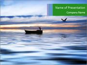 Fisherman on the lake PowerPoint Templates