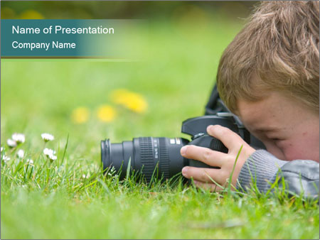 Young boy PowerPoint Templates