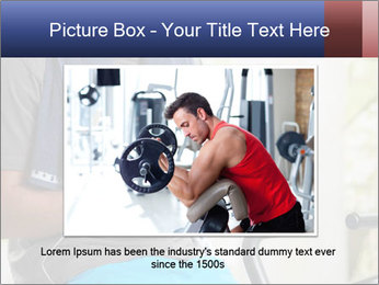 Man sitting on stationary bike PowerPoint Template - Slide 15