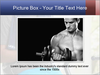 Man sitting on stationary bike PowerPoint Template - Slide 16