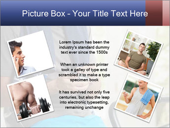 Man sitting on stationary bike PowerPoint Templates - Slide 24