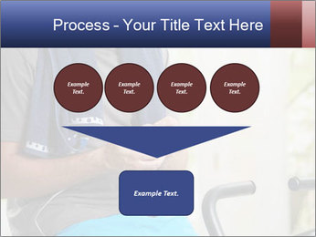 Man sitting on stationary bike PowerPoint Template - Slide 93