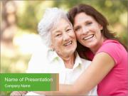 Senior Woman With Adult Daughter PowerPoint Templates