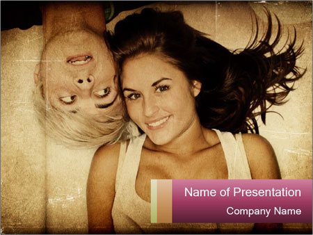 Adult friends PowerPoint Templates