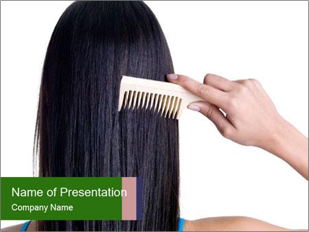Female hair PowerPoint Template