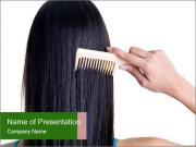 Female hair PowerPoint Template