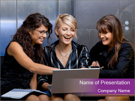 Team of young businesswoman PowerPoint Templates