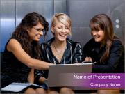 Team of young businesswoman PowerPoint Template