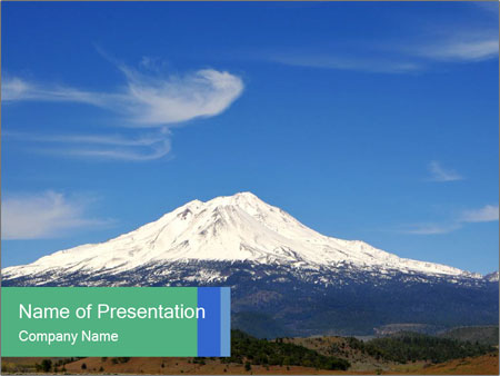 Mount in Northern California PowerPoint Template